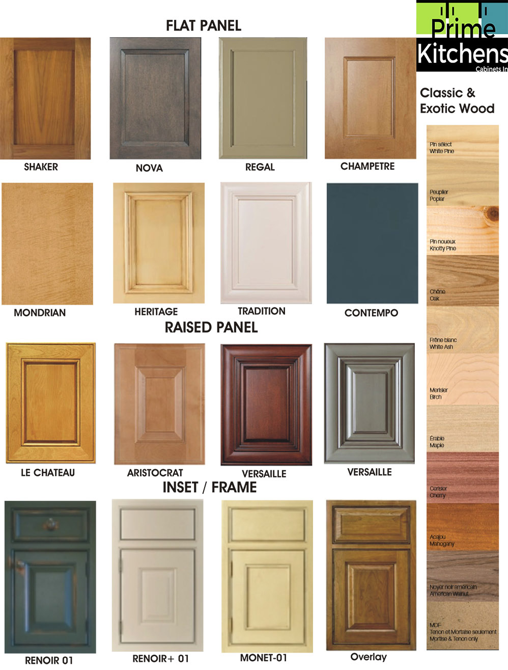 Wood doors kitchen cabinets in montreal for Kitchen cabinets montreal